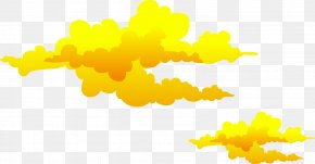 Yellow Clouds Vector - Euclidean Vector Cloud PNG