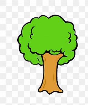 Tree - Tree Cartoon Drawing Clip Art PNG