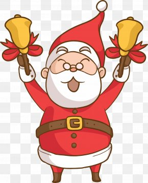 After Christmas Shopping - Santa Claus Christmas Day Vector Graphics Illustration Holiday PNG