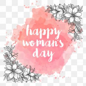 Women's Watercolor Background With -painted - Paper International Women's Day Mother's Day PNG