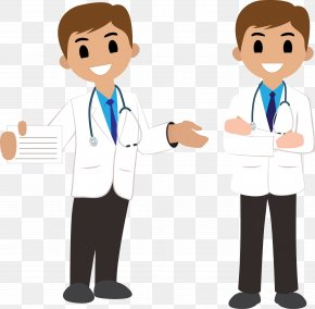 Vector Doctor Standing - Physician Clip Art PNG
