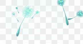 Green And Fresh Dandelion Floating Material - RGB Color Model Wallpaper PNG