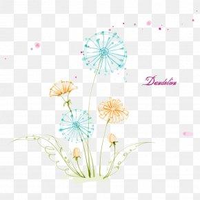Dandelion - Common Dandelion Drawing Euclidean Vector Floral Design Visual Arts PNG