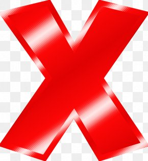 Cross Symbol - Red Material Property Symbol Font Cross PNG