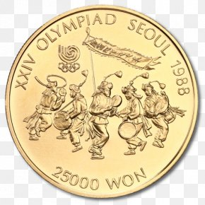 Coin - Coin 1988 Summer Olympics Gold Seoul Olympic Games PNG