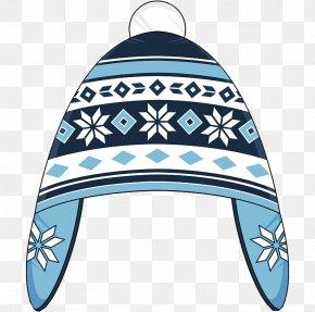Flat Winter Snowflake Hat - Beer Festival Knit Cap Hat Winter PNG