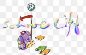 Back To School Cartoon Hand-painted Decorative Patterns - Cartoon Drawing Clip Art PNG