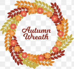 Fall Wreath Design - Wreath Clip Art PNG