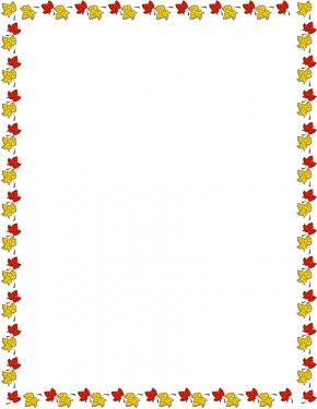 Motherboard Border Cliparts - Autumn Leaf Color Page Clip Art PNG