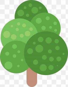 Hand Painted Green Tree Circle - Green Tree Circle PNG