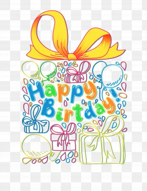 Gift Package Download - Happy Birthday To You Shoelace Knot Clip Art PNG