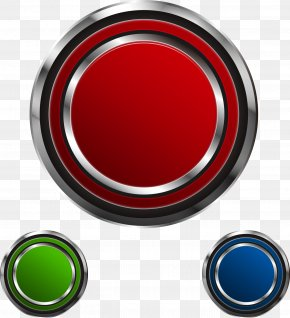 Vector Red Button - Free Red Button Game Push-button Euclidean Vector PNG