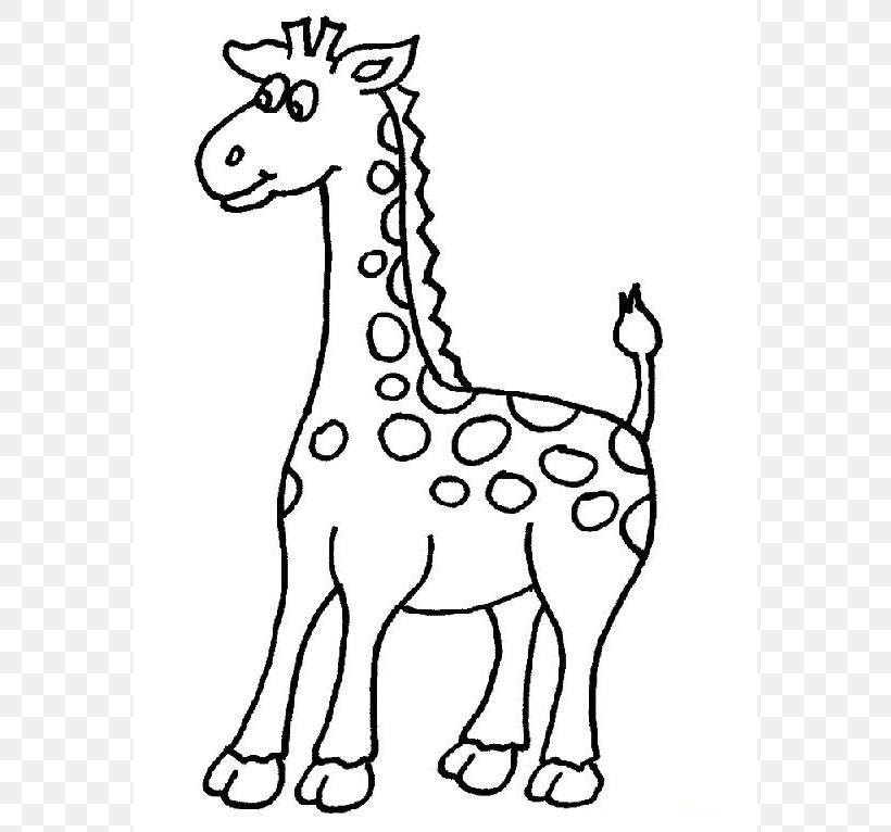West African Giraffe Coloring Book Drawing Adult, PNG, 574x766px, West  African Giraffe, Adult, Animal, Animal Figure,