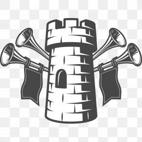 Castle Horn - Towerview B&B Breakfast Logo Illustration PNG