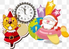 Santa Claus Christmas Vector Material - Santa Claus Euclidean Vector Christmas PNG