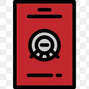 A Red Washing Machine - Passport Icon PNG
