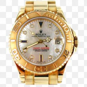 Gold - Gold Rolex Submariner Rolex Daytona Watch Rolex Yacht-Master II PNG