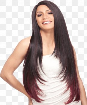 Lace Wig - Black Hair Lace Wig Braid Artificial Hair Integrations PNG