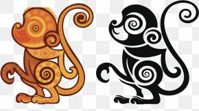Monkey Creative - Chinese Zodiac Monkey Horse Pig Rooster PNG