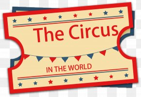 Vintage Circus - Ticket Circus Performance PNG