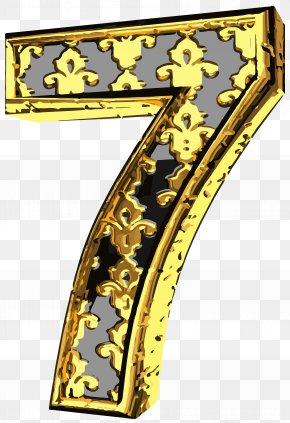 Elegant Vintage Number Seven Clip Art Image - Number Clip Art PNG