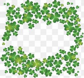 Clover Creative - Four-leaf Clover Shamrock Saint Patricks Day Clip Art PNG