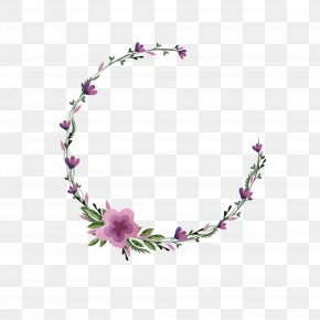 Purple Floral Decoration - Morning Day Clip Art PNG