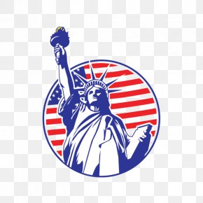 Statue Of Liberty - Statue Of Liberty Clip Art Vector Graphics Image Flag Of The United States PNG