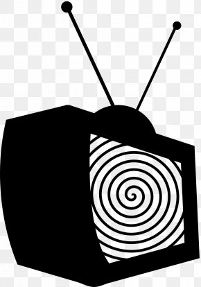 Television Clip Art Black And White - Television Show Stencil Clip Art PNG