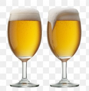 Two Glasses Of Beer - Beer Glasses Lager Cup PNG