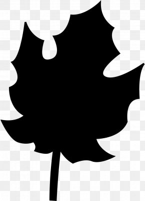 M Flower Silhouette Leaf - Clip Art Black & White PNG