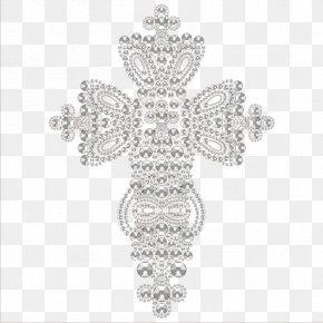 Silver Diamond Jewelry - White Black Body Piercing Jewellery Diamond Pattern PNG