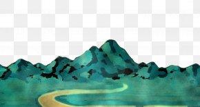 Landscape Rock - Water Aqua Blue Green Turquoise PNG