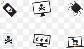 Vector Horror Elements - Cyberattack Security Hacker Icon PNG