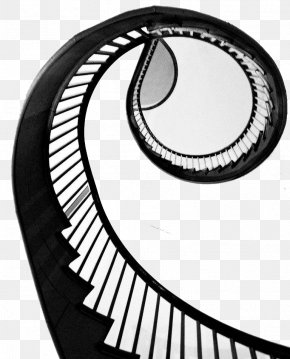 Black And White Simple Rotating Stairs - Stairs Spiral Black And White Csigalxe9pcsu0151 PNG