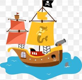 Sailboat - Template Piracy PNG