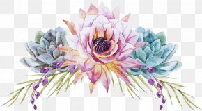 Hand-painted Flowers Vector - Watercolor Painting Floral Design Wedding Flower PNG