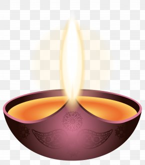 Purple Candle Happy Diwali Image - Diwali Diya Candle Clip Art PNG