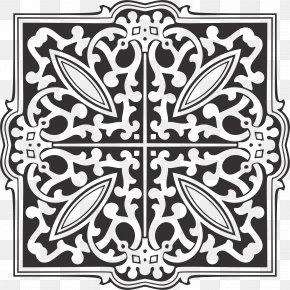 Ornamental - Ornament Art Monochrome PNG