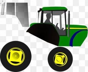 Ck Vector - John Deere Farmall Case IH Tractor Clip Art PNG