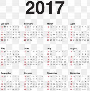 2017 Calendar Transparent PNG Clip Art Image - New Year's Day Calendar Holiday PNG