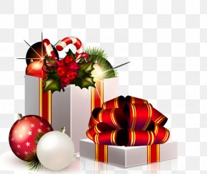 Mall Decoration - Santa Claus Candy Cane Christmas Decoration Clip Art PNG