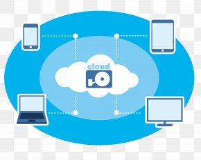 Vector Cloud Plate Computer Phone Link - Cloud Computing Icon PNG