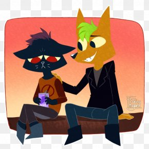 Night In The Woods Fan Art Watercolor Painting Drawing PNG