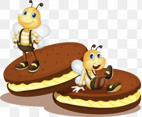 The Bee On The Sandwich Cake - Torte Biscuit Roll Biscotti Cake PNG