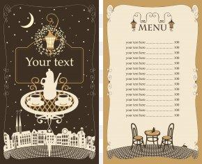 Vector Hand-painted Design Restaurant Menus - Cafe Menu Restaurant Template PNG