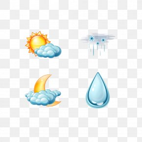 Weather Creative Pattern - Weather Forecasting Wind Rain And Snow Mixed Icon PNG
