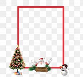 Christmas Decorative Frame Material - Christmas Tree Christmas Ornament PNG