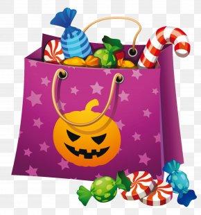 Halloween Candy Bag Clipart - Halloween Candy Corn Clip Art PNG