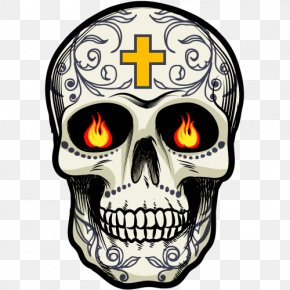 Tete De Mort - Calavera Mexican Cuisine Skull And Crossbones Drawing PNG